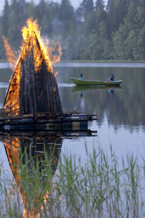 campfires: Midsummer fire in Finland