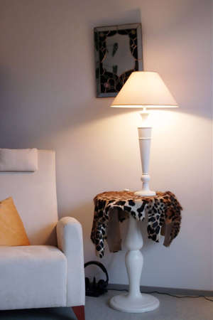 lampshade: Arm-chair and lampshade
