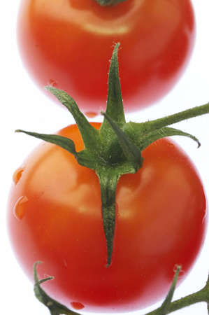 Close up of red tomatoes photo