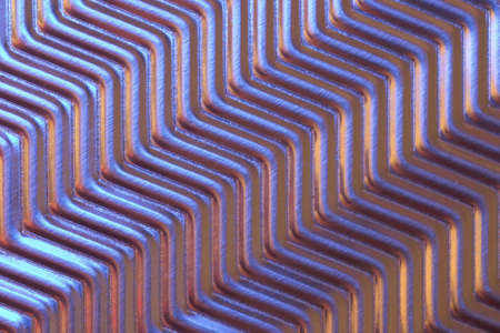 low light: Close-up of metal plate under low light. Stock Photo
