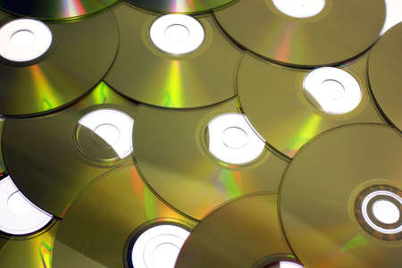 cd rom: Close-up of cd-roms Stock Photo