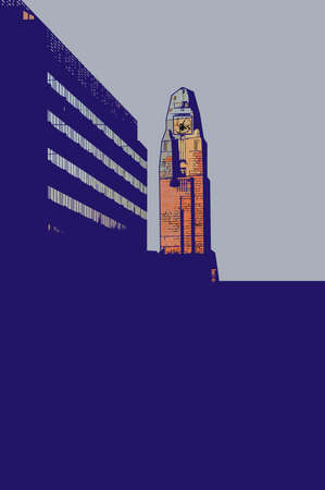 suomi: Illustration of tower of railway station in Helsinki.
