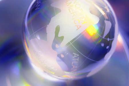 Glass world. Stock Photo