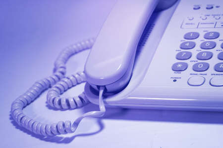 communications tools: Close-up of telephone. Stock Photo