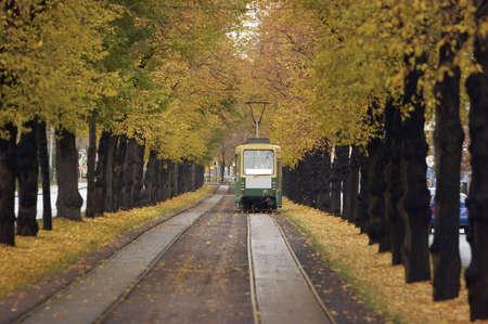 helsinki: Public transport vehicle in Helsinki.