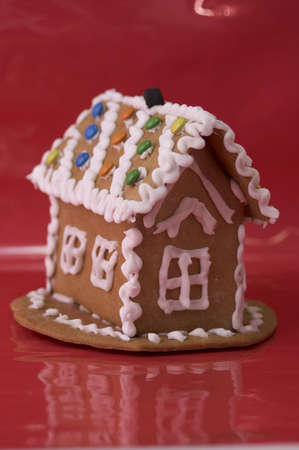 cooky: Gingerbread House Stock Photo