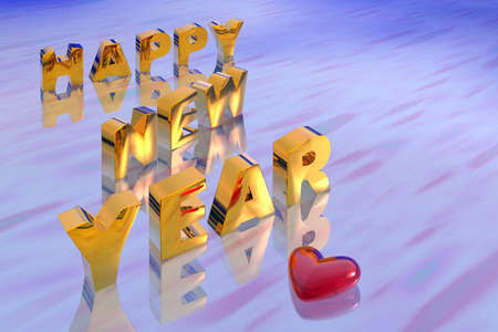Illustration of new year text illustration