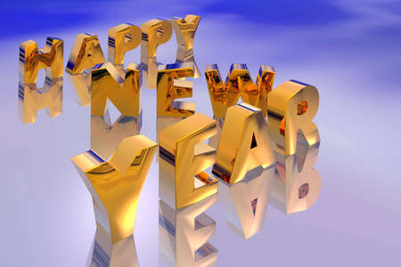 Illustration of new year text illustration