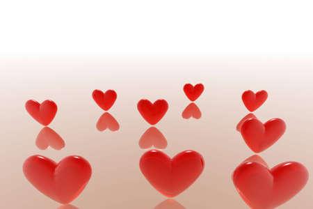 Illustration of shape of hearts illustration