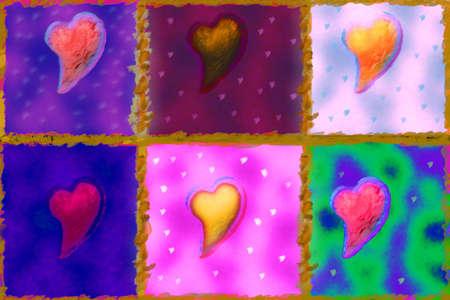 symbolism: Paint of hearts background image.