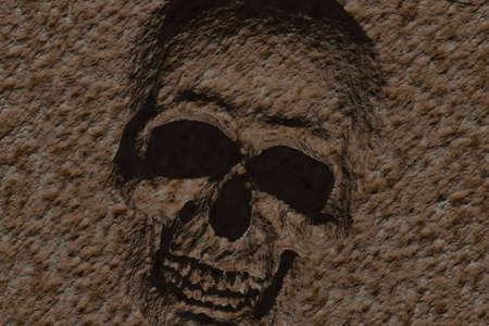 Illustration of skull illustration
