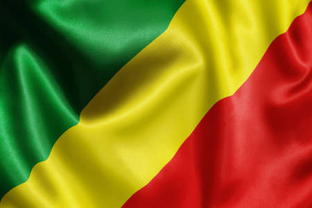 Congo: close-up of flag Stock Photo