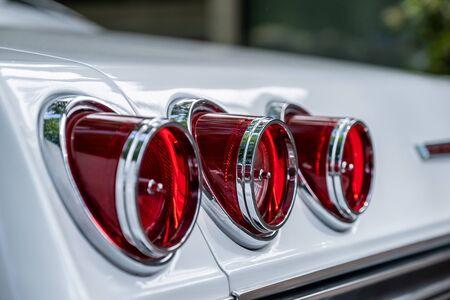 close-up rear lights of retro car, vintage lights, raritet Reklamní fotografie