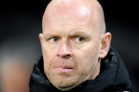 match head: Portrait of Henning Berg, ex Manchester United player is Legia Warsaw coach.