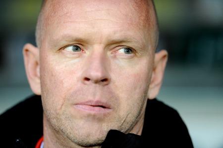 Portrait of Henning Berg, ex Manchester United player is Legia Warsaw coach.