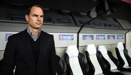 playoff: Warsaw Poland February 26 2015: UEFA Europa League playoff stage Legia Warsaw Ajax Frank De Boer Editorial