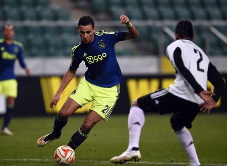 ajax: Warsaw Poland February 26 2015: UEFA Europa League playoff stage Legia Warsaw Ajax Amsterdam Anwar El Ghazi