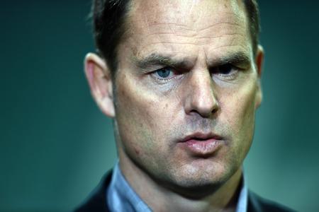 boer: Warsaw Poland February 26 2015: UEFA Europa League playoff stage Legia Warsaw Ajax Frank De Boer Editorial