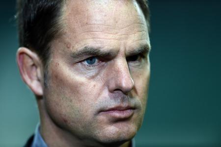 ajax: Warsaw Poland February 26 2015: UEFA Europa League playoff stage Legia Warsaw Ajax Frank De Boer Editorial