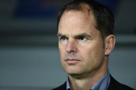boer: Warsaw, Poland - February 26, 2015 : UEFA Europa League play off stage Legia Warsaw Ajax Amsterdam Frank De Boer
