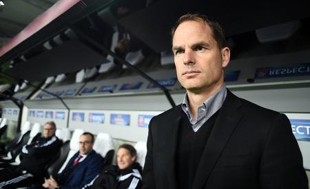 frank: Warsaw, Poland - February 26, 2015 : UEFA Europa League play off stage Legia Warsaw Ajax Amsterdam Frank De Boer