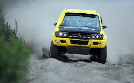 rallying: WARSAW, POLAND - JULY 11 2015: Polish Safari Rally Cross Championship Editorial
