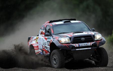 WARSAW, POLAND - JULY 11 2015: Polish Safari Rally Cross Championship Editorial