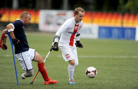 amp: WARSAW, POLAND - SEPTEMBER 12, 2015: AMP Football cup Warsaw Poland 2015nz Poland vs France Editorial