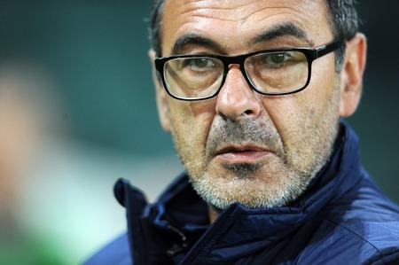 Napoli: WARSAW, POLAND - OCTOBER 1, 2015: UEFA Europa League group stage Legia Warsaw SSC Napoliop Maurizio Sarri Napoli
