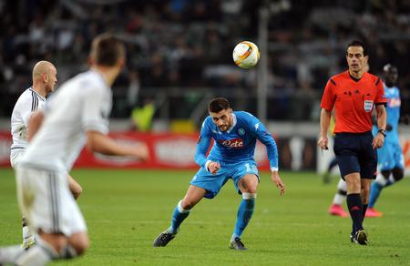 Napoli: WARSAW, POLAND - OCTOBER 1, 2015: UEFA Europa League group stage Legia Warsaw SSC Napoliop: David Lopez Napoli