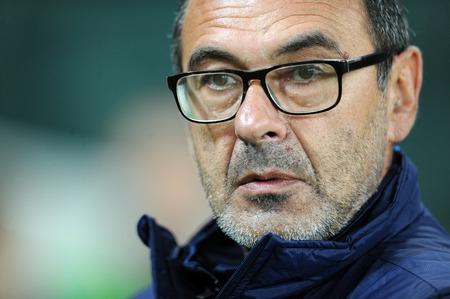 uefa: WARSAW, POLAND - OCTOBER 1, 2015: UEFA Europa League group stage op Maurizio Sarri Napoli