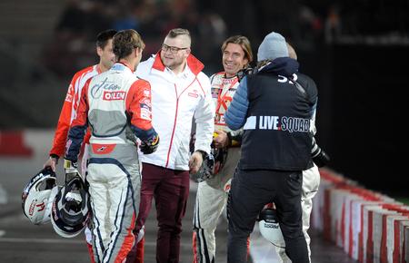 hammer throw: WARSAW, POLAND - OCTOBER 24, 2015: VERVA Street Racing Special Editionop Pawe Fajdek Hammer Throw