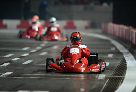 street racing: WARSAW, POLAND - OCTOBER 24, 2015: VERVA Street Racing Special Editionop go-karting