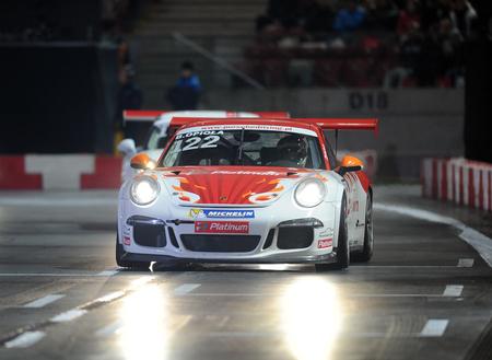 challange: WARSAW, POLAND - OCTOBER 24, 2015: VERVA Street Racing Porsche challange Special Editionop