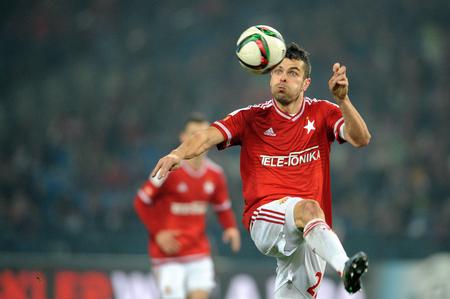 ruch: CRACOV, POLAND - OCTOBER 30, 2015: T-Mobile Extra League Polish Premier Football League Wisla Krakow - Ruch Chorzow op: Pawel Brozek Editorial