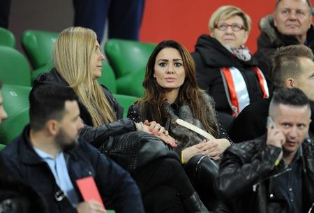 ajax: WROCLAW, POLAND - NOVEMBER 17, 2015: EURO 2016 European Championship friendly game Poland - Czech Republic op Jessica Ziolek girlfriend of Arkadiusz Milik Ajax Editorial
