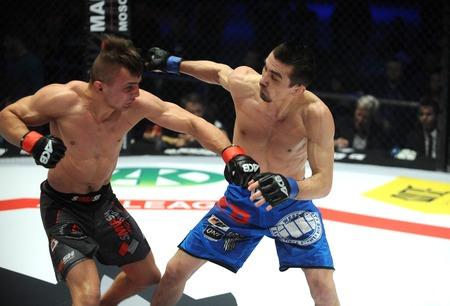 artes marciales mixtas: VARSOVIA, Polonia - FEBRERO 06, 2016: artes marciales mixtas ACB Internacional Fight Night Editorial