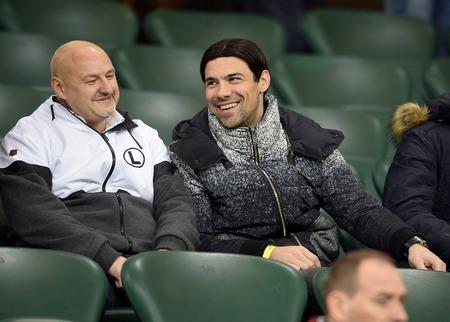 midfielder: WARSAW, POLAND - MARCH 05, 2016, T-Mobile Polish Extra League Premier Football League Legia Warsaw Gornik Zabrzeo Editorial