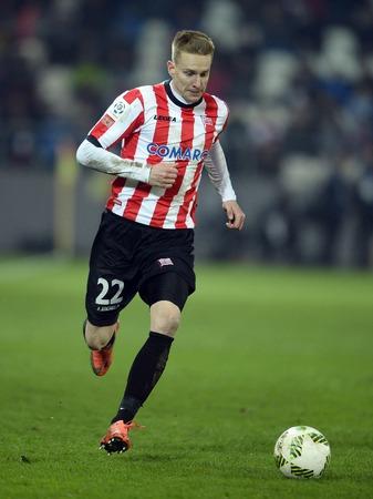 cracovia: Cracov, POLAND - MARCH 12, 2016, T-Mobile Polish Extra League Premier Football League Cracov Cracovia Legia Warsawo  p: Jakob Wojcicki