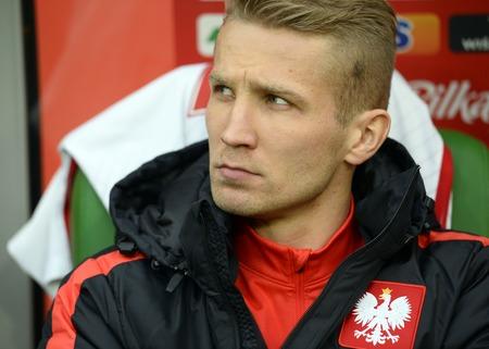 igor: WROCLAW, POLAND, MARCH 26, 2016: Inernational Friendly football game Poland - Finlando  p Igor Lewczuk Editorial