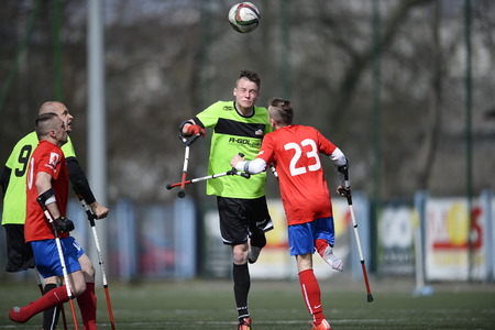 amp: WARSAW, POLAND - APRIL 03, 2016: AMP Football Club cup Warsaw Poland 2016n  from Editorial