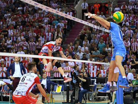 cev: WARSAW, POLAND - APRIL 16, 2016: Volleyball Champions League Final Fourna  from Aleh AKHREM (Asseco) Editorial
