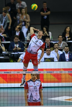 cev: WARSAW, POLAND - APRIL 16, 2016: Volleyball Champions League Final Fourna  from THOMAS JAESCHKE (Asseco)