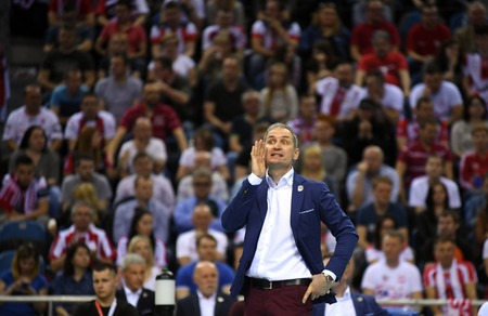 cev: WARSAW, POLAND - APRIL 16, 2016: Volleyball Champions League Final Fourna  with COACH HEAD COACH ASSECO ANDRZEJ KOWAL