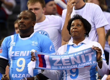 patents: WARSAW, POLAND - APRIL 16, 2016: Volleyball Champions League Final Fourna  from Zenit Kazan and WILFREDO LEON (ZENIT) patents