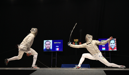 WARSAW, POLAND – FEBRUARY 25: Sabre de Wolodyjowski Internationa Fencing Federation Fencing Cup in mens sword FIA Editorial