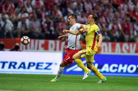 10 JUIN 2017: Eliminatoires pour la Coupe du Monde 2018 / p Arkadiusz Milik, de Pologne, Vlad Chiriches, de Roumanie