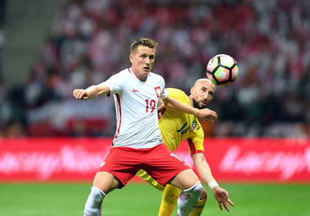 JUNE 10, 2017: 2018 World Cup Qualifications  Piotr Zielinski of Poland, Iasmin Latovlevici of Romania
