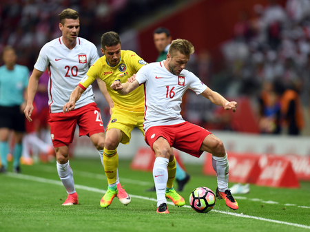 JUNE 10, 2017: 2018 World Cup qualifiers  p. Alexandru Chipciu of Romania, Jakub Blaszczykowski of Poland