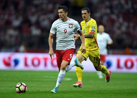 JUNE 10, 2017: 2018 World Cup Qualifications  Robert Lewandowski of Poland, Bogdan Stancu of Romania